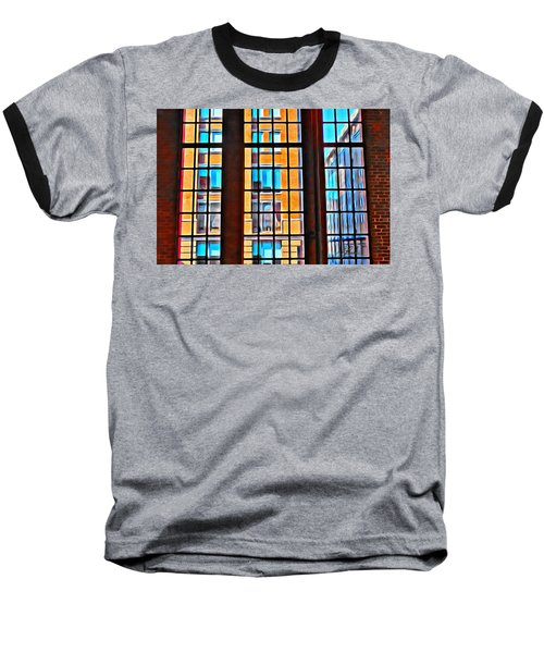 Manhattan Windows Baseball T-Shirt by Joan Reese