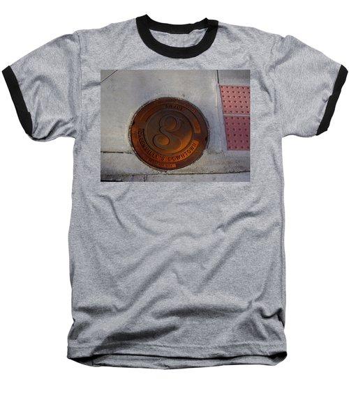 Manhole I Baseball T-Shirt by Flavia Westerwelle