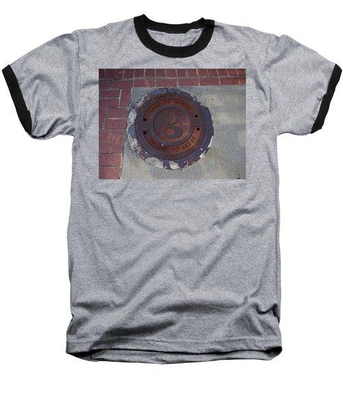 Manhole II Baseball T-Shirt by Flavia Westerwelle