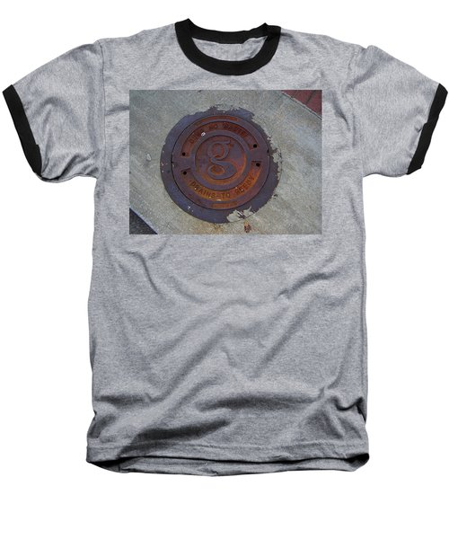 Manhole IIi Baseball T-Shirt by Flavia Westerwelle