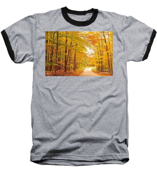 Manisee National Forest In Autumn Baseball T-Shirt