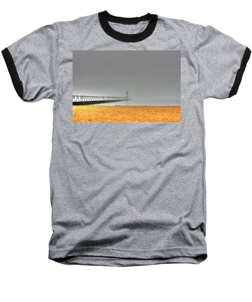 Manistee Light And Fog Baseball T-Shirt