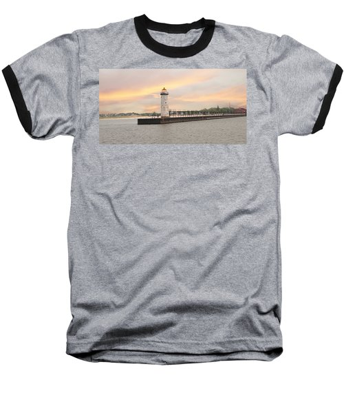 Manistee North Pierhead Lighthouse Baseball T-Shirt