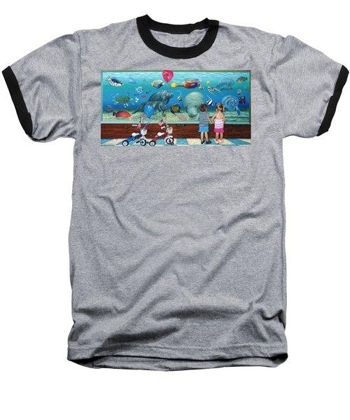 Manitee Aquarium With My Twins Baseball T-Shirt