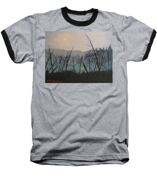 Baseball T-Shirt featuring the painting Manitoulin Beaver Meadow by Ian  MacDonald