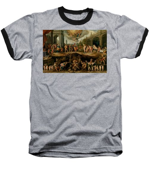 Mankind's Eternal Dilemma, The Choice Between Virtue And Vice Baseball T-Shirt