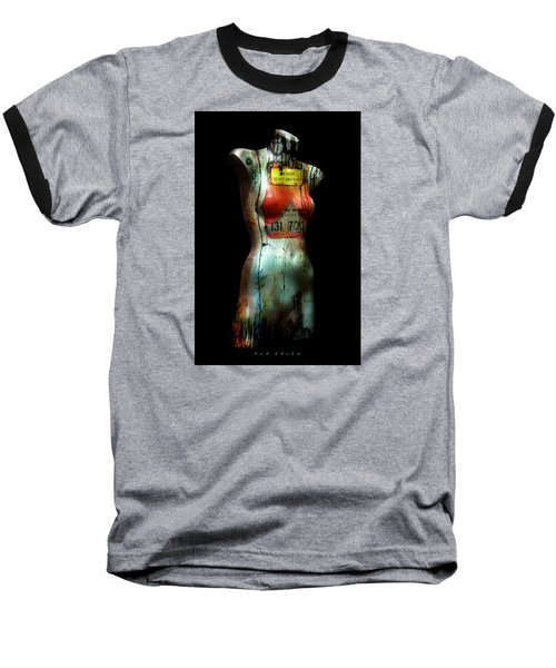 Baseball T-Shirt featuring the painting Mannequin Graffiti by Kim Gauge