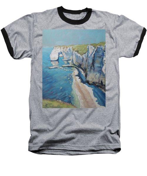 Manneport, The Cliffs At Etretat Baseball T-Shirt