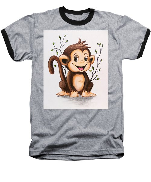 Manny The Monkey Baseball T-Shirt