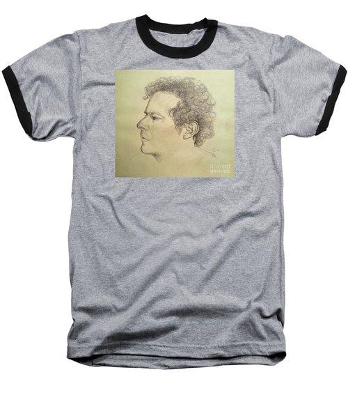Man's Head Classic Study Baseball T-Shirt by Maja Sokolowska
