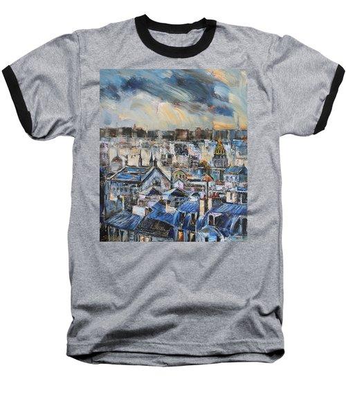 Mansards In Blue Baseball T-Shirt