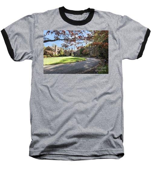 Mansion At Ridley Creek Baseball T-Shirt by Judy Wolinsky