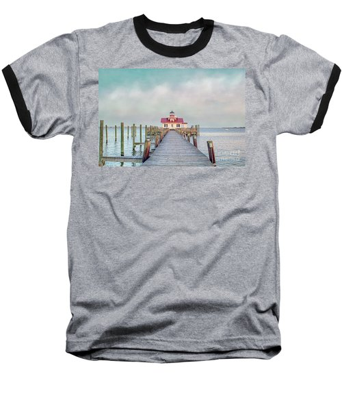 Manteo Lighthouse Baseball T-Shirt