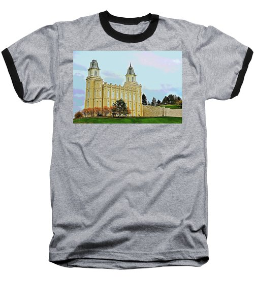 Manti Temple Baseball T-Shirt