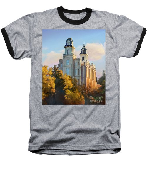 Manti Temple Tall Baseball T-Shirt by Rob Corsetti