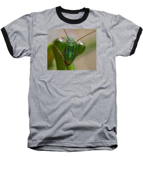Mantis Face Baseball T-Shirt by Jonny D