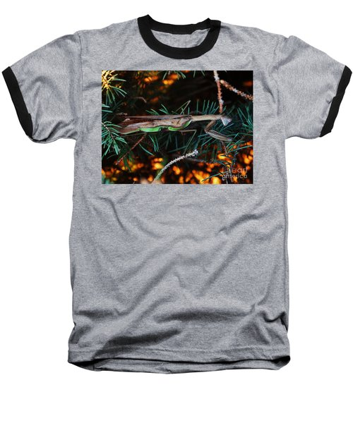Mantis  Baseball T-Shirt by J L Zarek
