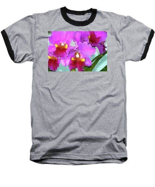 Baseball T-Shirt featuring the photograph Many Purple Orchids by Lehua Pekelo-Stearns