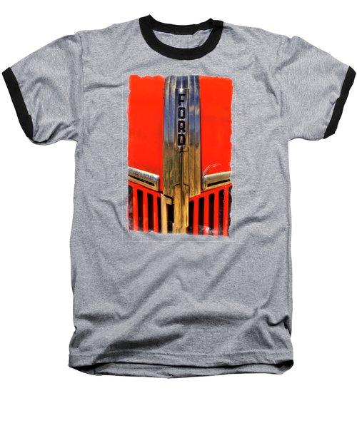 Manzanar Fire Truck Hood And Grill Detail Baseball T-Shirt by Roger Passman
