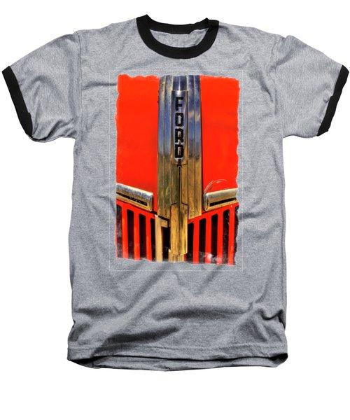 Manzanar Fire Truck Hood And Grill Detail Baseball T-Shirt