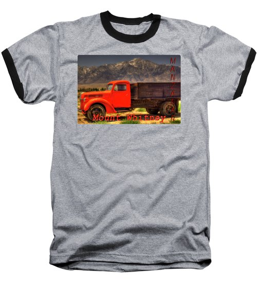 Manzanar Food Delivery Truck And Mt. Whitney Baseball T-Shirt