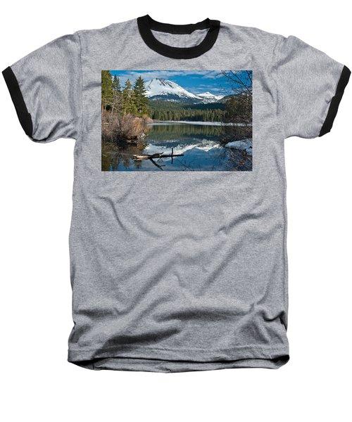Manzanita Lake Reflects On Mount Lassen Baseball T-Shirt