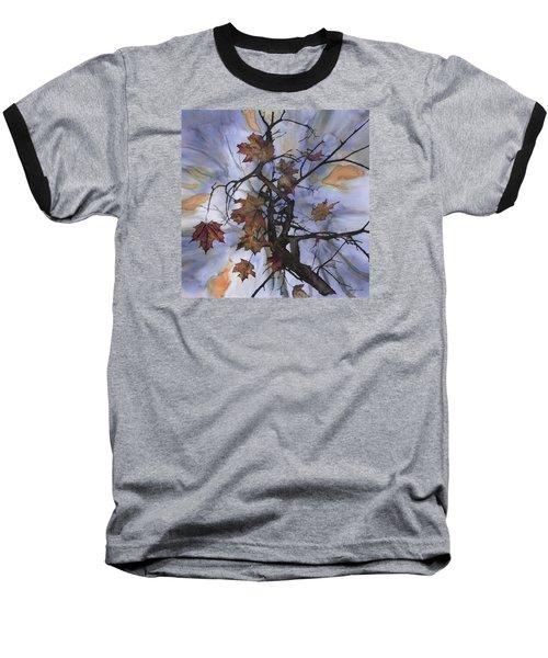 Maple Autumn Splash Baseball T-Shirt by Carolyn Doe