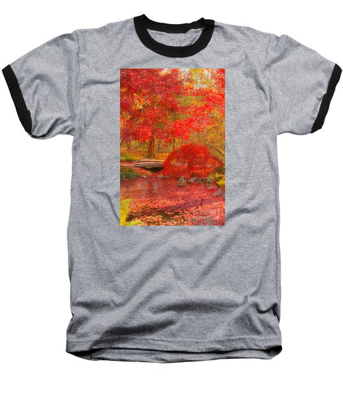 Baseball T-Shirt featuring the photograph Maple Bridge by Geraldine DeBoer