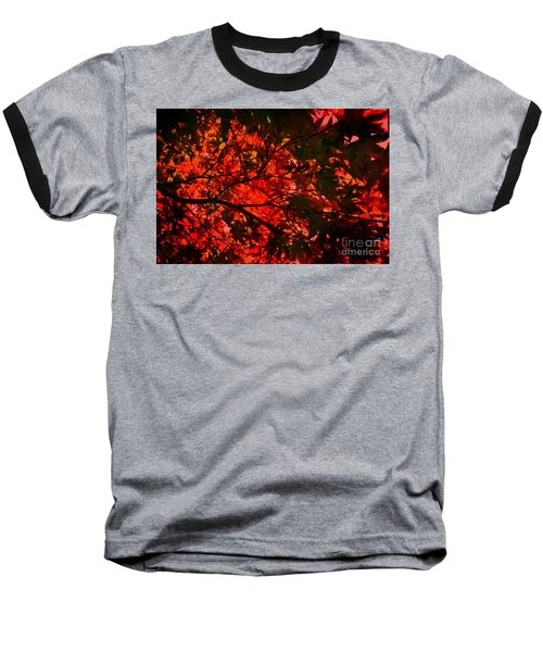 Baseball T-Shirt featuring the photograph Maple Dance In Red by Paul Cammarata