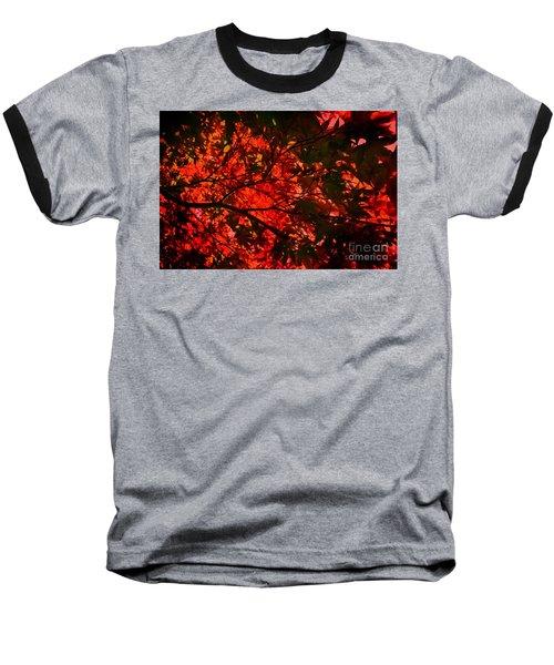 Maple Dance In Red Baseball T-Shirt