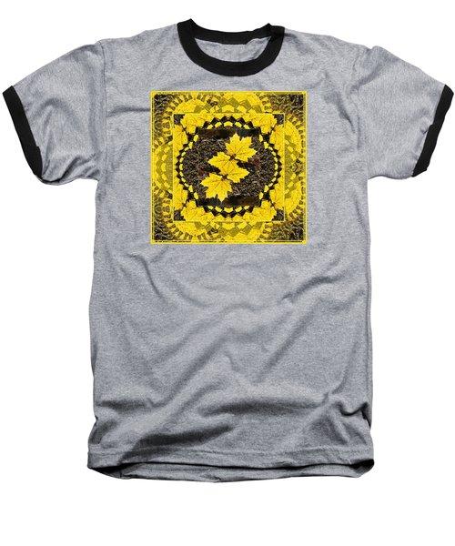 Maple Leaf Design Baseball T-Shirt