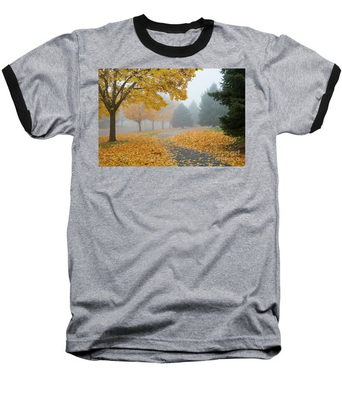 Maple Leaf Path Baseball T-Shirt