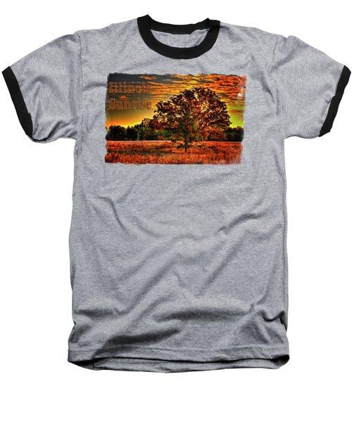 Maple Tree On An Illinois Priaire Early Autumn Baseball T-Shirt