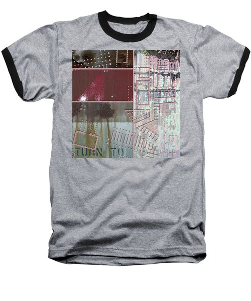 Maps #17 Baseball T-Shirt by Joan Ladendorf