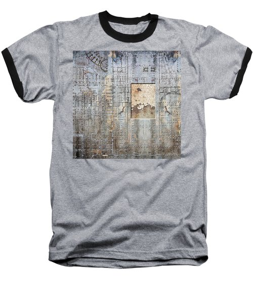 Maps #18 Baseball T-Shirt by Joan Ladendorf