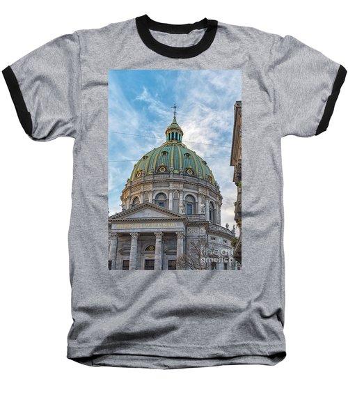 Baseball T-Shirt featuring the photograph Marble Church In Copenhagen by Antony McAulay