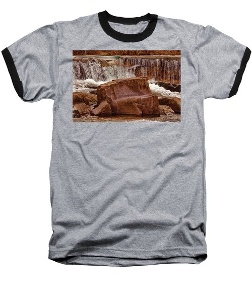 Marble Creek Shut-ins Baseball T-Shirt by Robert Charity