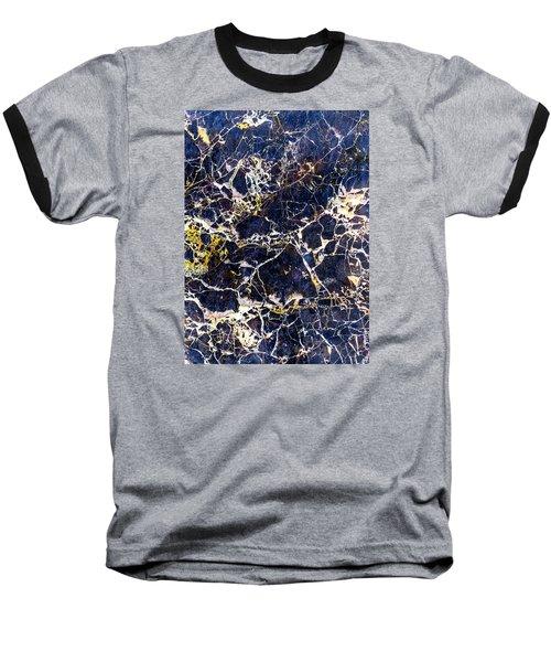 Marble Stone Texture Wall Tile Baseball T-Shirt by John Williams