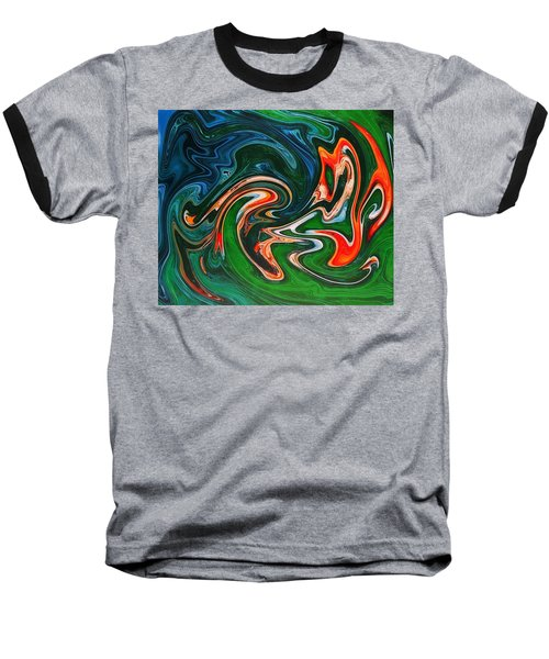 Marble Texture Baseball T-Shirt