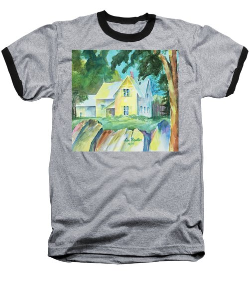 Marblehead Cottage Baseball T-Shirt by Lee Beuther