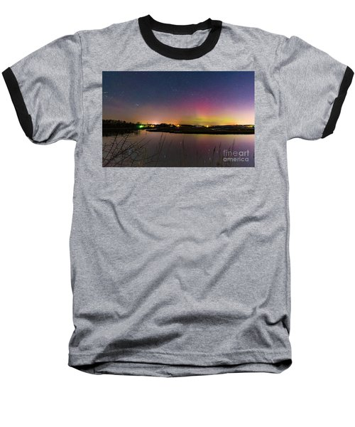 March 6 Aurora Over Scarborough Marsh  Baseball T-Shirt