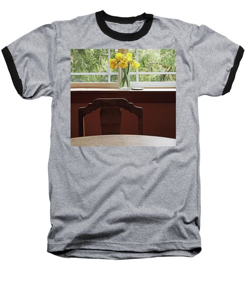 Baseball T-Shirt featuring the photograph March by Laurie Stewart