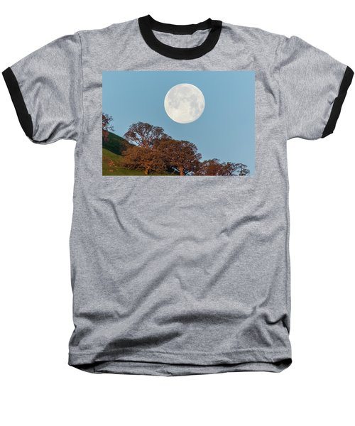 Baseball T-Shirt featuring the photograph March Moonset by Marc Crumpler