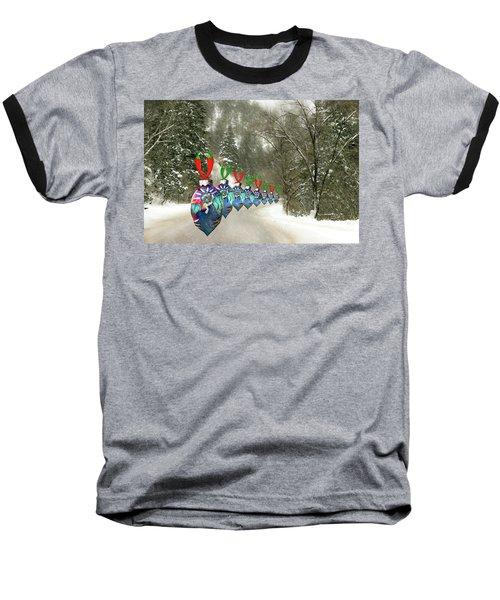 Marching Ornaments Chili Peppers Baseball T-Shirt