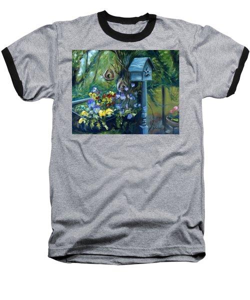 Marcia's Garden Baseball T-Shirt by Donna Tuten