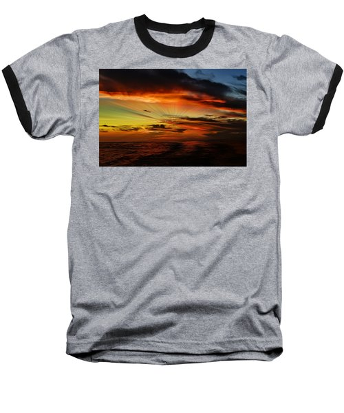 Marco Sunset Rays Baseball T-Shirt