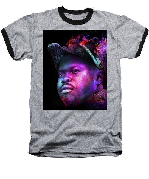 Marcus Garvey Portrait Baseball T-Shirt