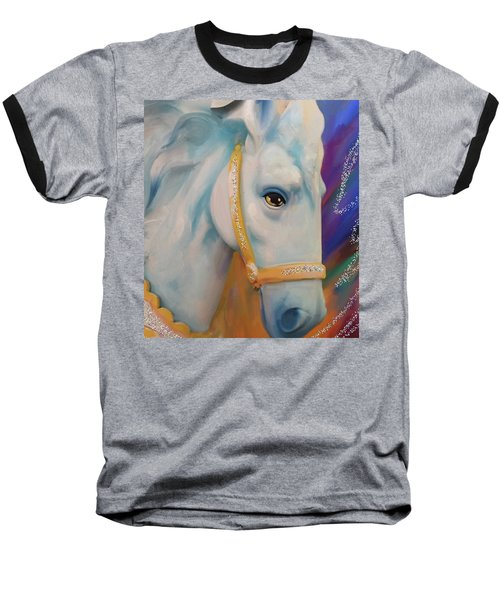 Mardi Gras Horse Baseball T-Shirt