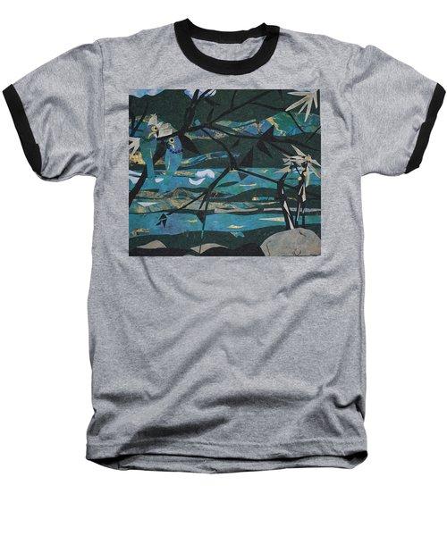 Mardi Gras Macaws Carnival Through A Birdseye View  Baseball T-Shirt by Robin Miller-Bookhout