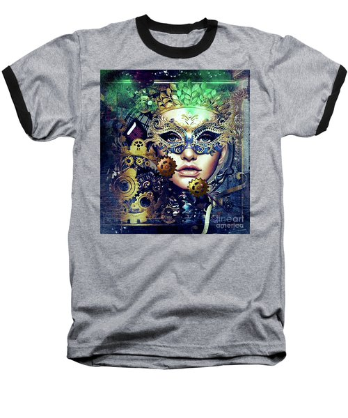 Mardi Gras Mask Baseball T-Shirt